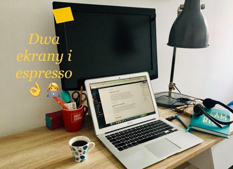 Biurko Iteacherki - dwa ekrany i espresso muszą być!